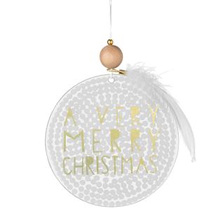 Fensterbild A verry merry klein Weihnachtszauber von Räder