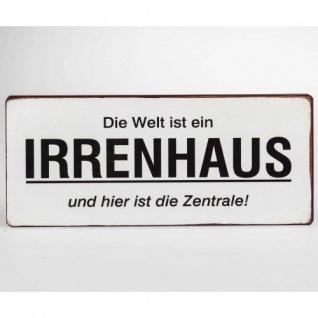 Wandbild Irrenhaus metall 30x13cm