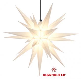 68cm Weißer Stern Set mit 5m Kabel, Abdeckung und LED Leuchtmittel Herrnhuter