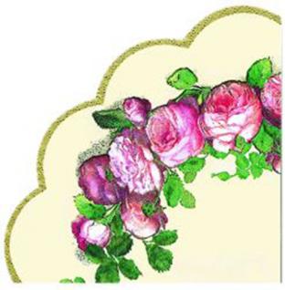 English Rose Rondo Serviette von IHR Durchmesser 34 cm