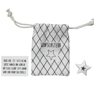 Herzstücke Kleine Tasche mit Stern Glücksbringer von Räder Design