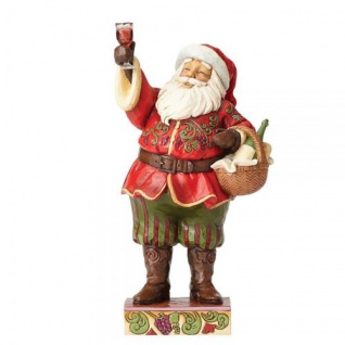 Santa Toasting Traditions (with wine) Weihnachtsmannfigur 26, 5cm Jim Shore