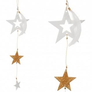 Goldsterne weiß/gold 26cm hängend Weihnachtszauber von Räder Design