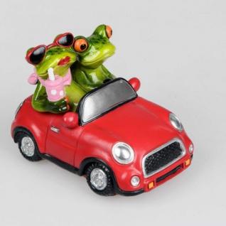 Froschpärchen im Auto Deko Figur 14cm Formano