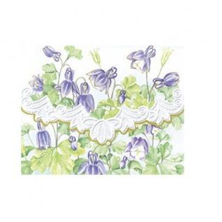 Carol Wilson Akelei lilac drops Briefkarten mit Umschlag