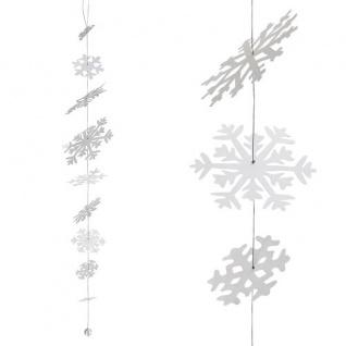 Schneeflocken Kette tanzend 100cm Wintertafel von Räder Design