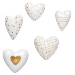 Herzstücke Herz Porzellan weiß gold sort. von Räder Design