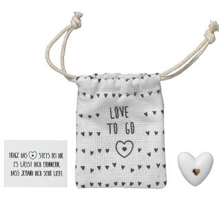 Herzstücke Kleine Tasche mit Herz Glücksbringer von Räder Design