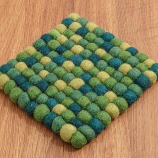 Filzuntersetzer grün klein 15x15cm