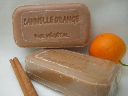 Orange-Zimt Naturseife Savonnerie de Bormes Provence 100g