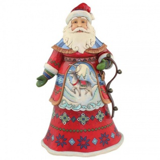 Santa Lapland Joyful Journey Weihnachtsmannfigur 26, 5cm Jim Shore
