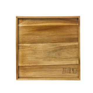 Tablett Holz Text 30x30x2, 8 von Räder Design