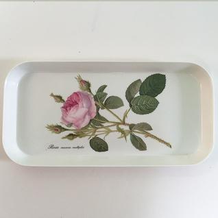 Tablett Melamin 15x31cm Redoute Rose Roy Kirkham