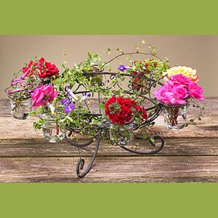 Dekoschale Kula antik braun mit 8 Gläsern von Zauberblume