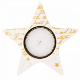Touch of Gold Sternenlicht aus Porzellan mit Schriftzug von Räder
