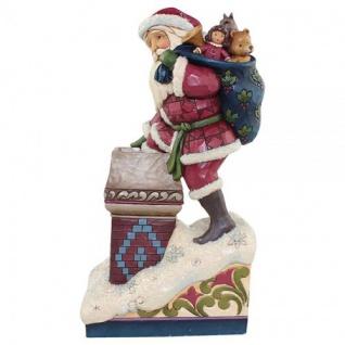 Santa Victorian in chimney Making Magic Weihnachtsmannfigur 26, 5cm Jim Shore
