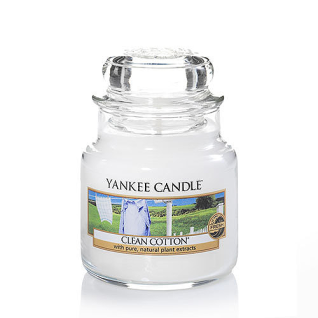 Yankee Candle CLEAN COTTON Duftkerze Classic klein
