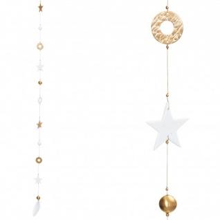 Goldsterne weiß/gold 116cm hängend Weihnachtszauber von Räder Design