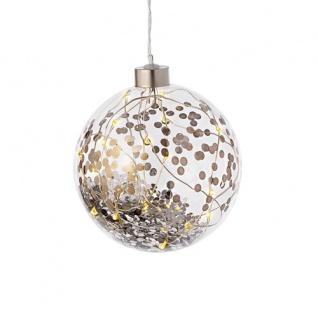 Lichtkugel silber LED Weihnachtszauber 10, 5cm von Räder Design