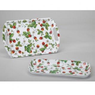 Erdbeer Tablett Melamin klein 15x31cm Roy Kirkham