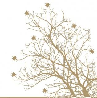 Baum gold Serviette 33x33cm von Räder Design