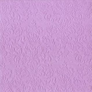 Cameo violett Uni Cocktail Serviette mit Relief von IHR