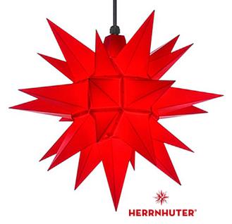 40cm Roter Stern Set mit 10m Kabel, Abdeckung und LED Leuchtmittel Herrnhuter