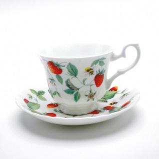 Erdbeer Kaffee- oder Teetasse Alpine Strawberry Roy Kirkham 200ml