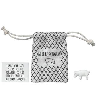 Herzstücke Kleine Tasche mit Glücksschwein Glücksbringer von Räder Design