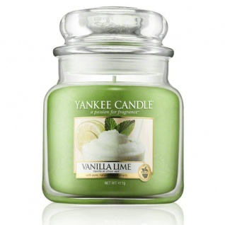 Yankee Candle Vanilla Lime Duftkerze Classic mittel