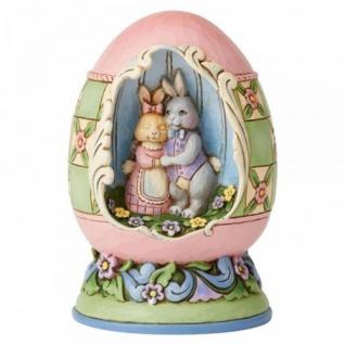 Bunny Love Springs Eternal-Easter Egg 10x7x7cm Jim Shore