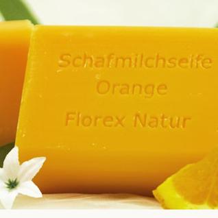 Orange Florex Schafmilchseife 100g