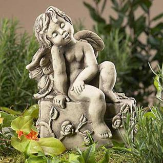 Engel Corat Gartenskulptur 26cm Zauberblume