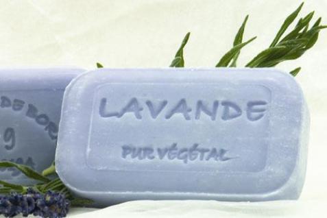 Lavendel mit Lavendelöl Naturseife Savonnerie de Bormes 100g