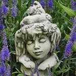 Blumenkind Winter Gartenfigur Zauberblume
