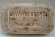 Lavendel mit Blüten Pflanzenölseife Savonnerie de Bormes Provence 100g