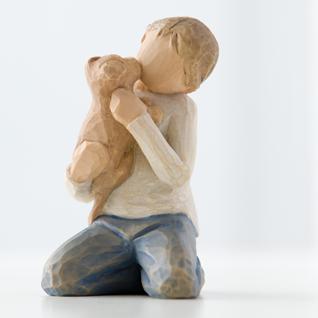 Liebevoller Junge Kindness Boy Figur von Willow Tree