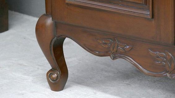 Kleiderschrank brown Walnuss Mahagoni massiv ein Traum 3 Türen - Vorschau 4