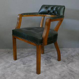 Stuhl Bürostuhl Bürosessel Chefsessel Oxford massiv Mahagoni brown Walnuss