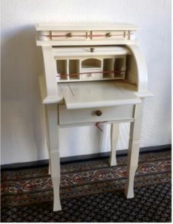 Englischer Sekretär Schreibtisch Mahagoni Farbe antikweiss