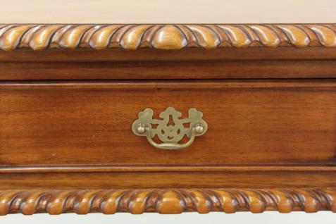 Englischer Chippendale Schreibtisch Konsole Mahagoni light brown walnuss - Vorschau 2