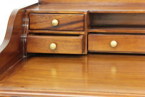 Sekretär Schreibtisch Konsole Handarbeit aus massivem Mahagoni light brown - Vorschau 3