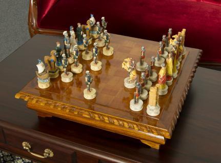 Schachtisch Spieltisch Spielbrett Schachbrett Mahagoni NEU - Vorschau 1