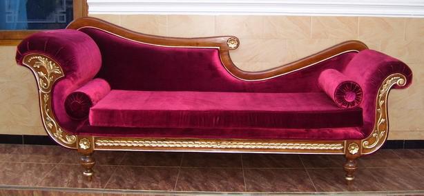 Ottomane Couch Recamiere Holz: massiv Mahagoni