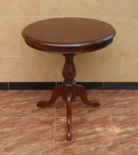 Tisch Teetisch Beistelltisch Weintisch Mahagoni dunkelbraun Walnuss