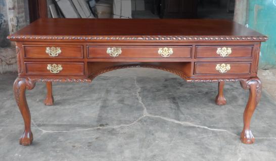 Englischer Chippendale Schreibtisch Mahagoni - Vorschau