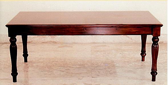 Tisch Esstisch Mahagoni Louis Stil 250 cm Farbe Mahagoni red