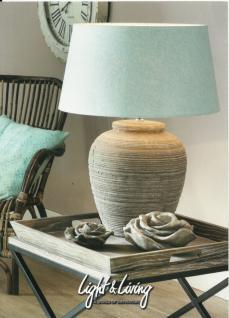 Stylishe Lampe Leuchte Tischleuchte Tischlampe mit Schirm Höhe ca. 65 cm - Vorschau 1