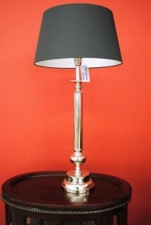 Grosse stylishe Lampe Leuchte Tischleuchte Tischlampe Chrom / Black Höhe 91 cm