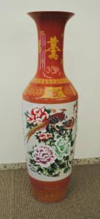 Monumentales Prunkgefäß Standvase Vase hochwertiges Porzellan H 140 cm